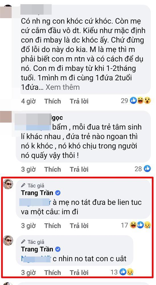 Trang Trần nổi điên khi chứng kiến mẹ tát con trên máy bay-5