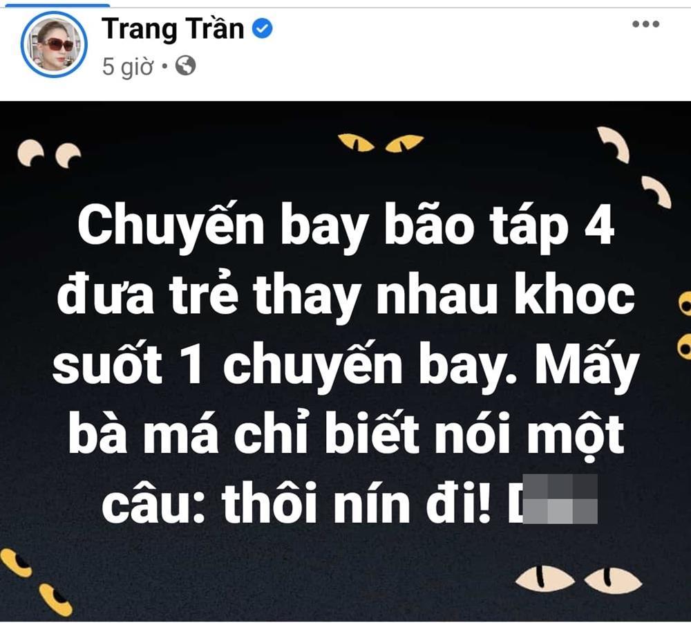 Trang Trần nổi điên khi chứng kiến mẹ tát con trên máy bay-2