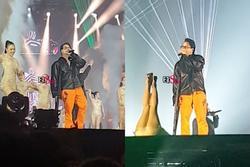 Bất chấp việc đứt dây chằng chéo, Karik đã chống nạng diễn cực sung tại Rap Việt Concert