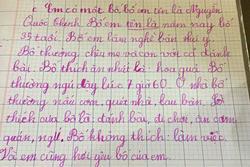 Cô nhóc tiểu học làm văn tả xấu bố từ A-Z, đọc câu chốt mới sốc