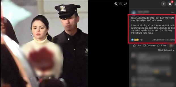 Facebook rầm rộ hình ảnh Selena Gomez bị bắt với trang phục đầy máu-1