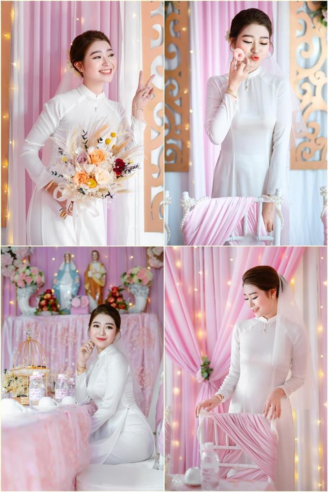 Cô dâu An Giang trang trí tiệc cưới ngập tràn sắc hồng mèo Hello Kitty-10