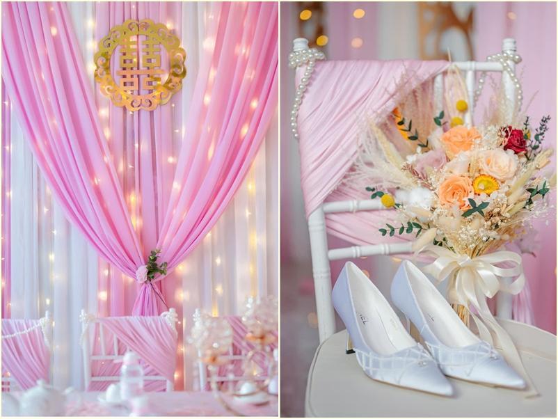 Cô dâu An Giang trang trí tiệc cưới ngập tràn sắc hồng mèo Hello Kitty-8