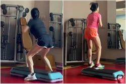 Phượng Chanel 'nặn mông, khắc eo' với jump squat