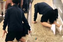 Lan truyền hình ảnh Quang Hải bị bắt quỳ gối giữa sân bay