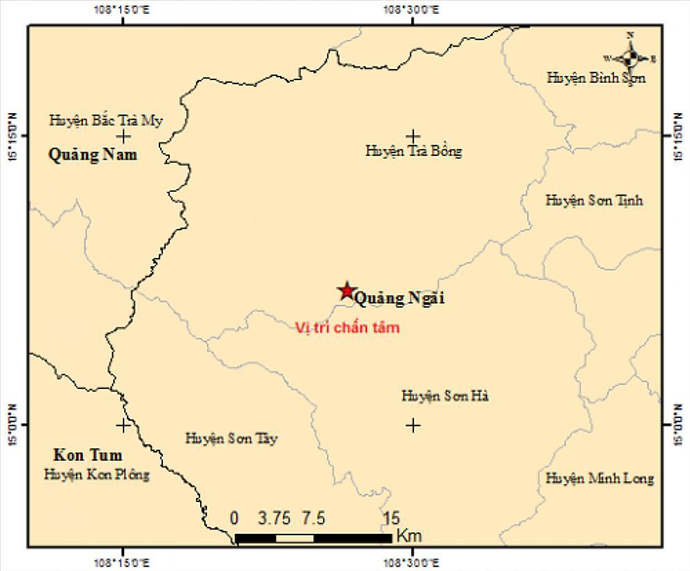 Có ít nhất 4 trận động đất xảy ra liên tiếp chỉ trong 2 ngày-1