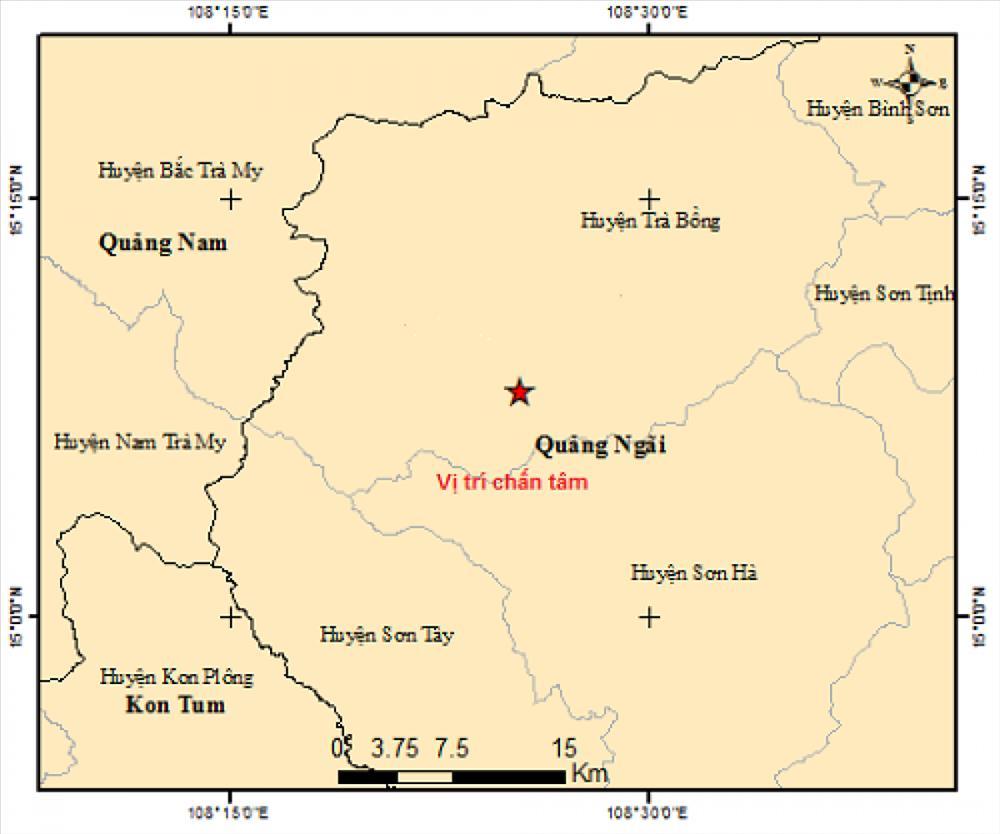 Có ít nhất 4 trận động đất xảy ra liên tiếp chỉ trong 2 ngày-2