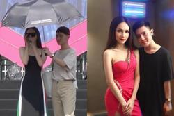 Hương Giang lộ clip hát chênh phô, đặc biệt còn được cầm ô che nắng