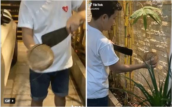 Màn chặt dừa của Trường Giang khiến Nhã Phương hú hồn: Suýt nữa là mất ăn rồi!-1