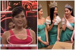 Đỗ Thị Hà lộ miếng dán ngực kém duyên trên sóng truyền hình
