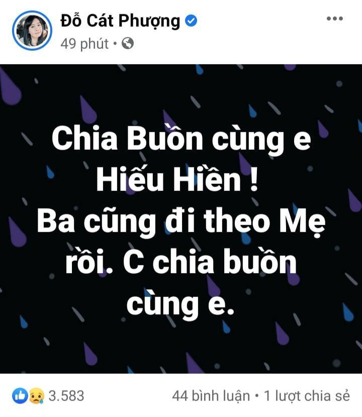 Dàn sao Việt chia buồn khi cha Hiếu Hiền qua đời-2