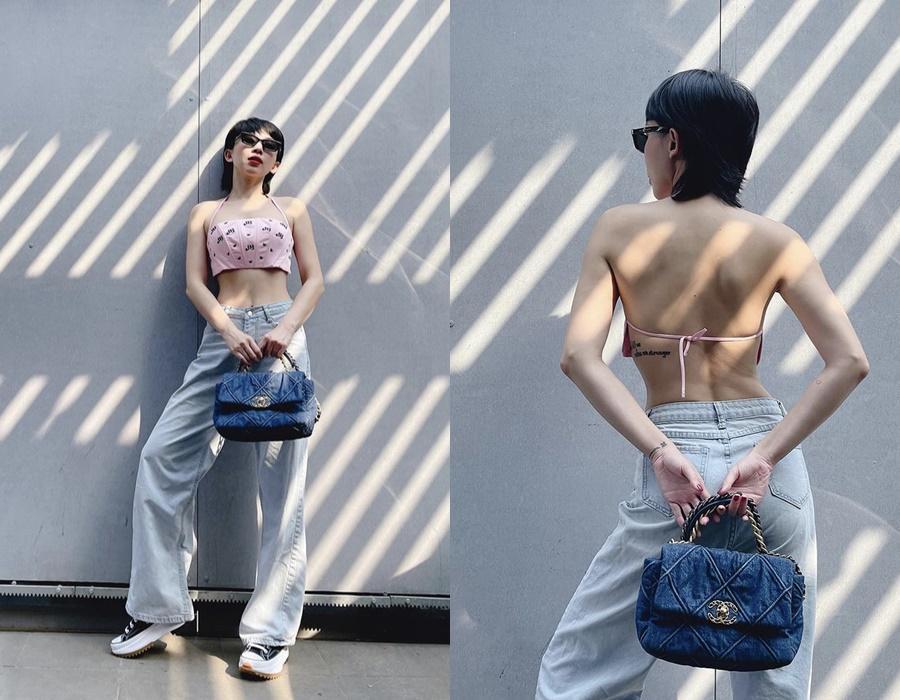 Nắng cháy da, sao Việt vẫn diện váy áo hở bạo khoe lưng trần-5