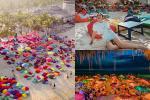 Choáng ngợp trước thiên đường 7 sắc cầu vồng như Bali trên bãi biển Đà Nẵng
