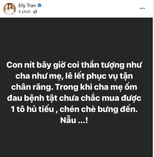 Elly Trần trả miếng khi bị nói không có fan nên thích khoáy scandal-1
