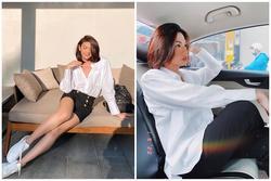 'Cô giáo' Đào Bá Lộc khoe chân nuột không kém hoa hậu