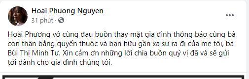 Mẹ chồng Việt Hương qua đời-1
