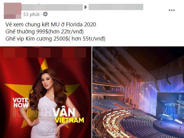 Giá vé cực chát để xem Khánh Vân thi chung kết Miss Universe 2020-3