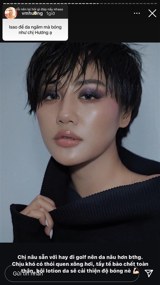 Văn Mai Hương hé lộ tips skincare cho da ngăm bóng khỏe-1