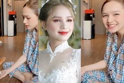 Cô dâu diện váy 28 tỷ lộ mặt mộc, nhan sắc có giống hình show trên 'phây'?