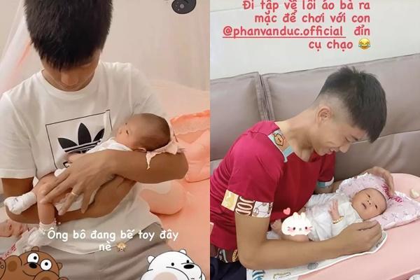 Con gái Phan Văn Đức thay đổi thế nào sau 8 tháng chào đời?-7