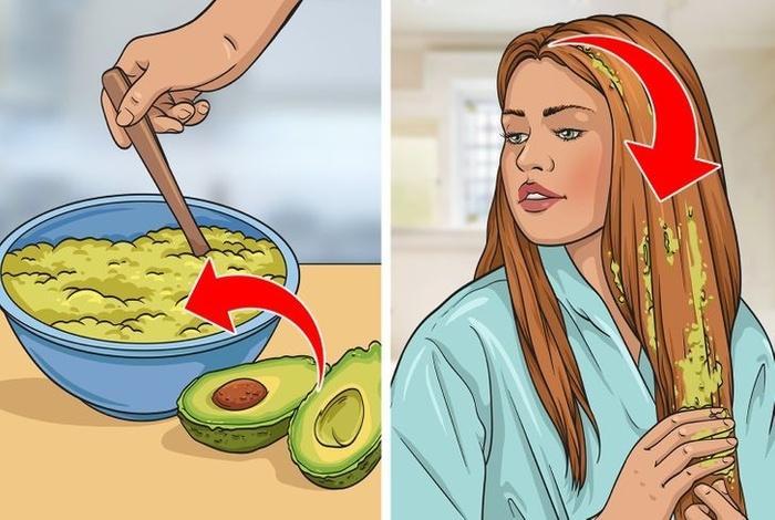 10 nguyên liệu tự nhiên hô biến tóc mỏng dính thành dày lại mềm mượt-3