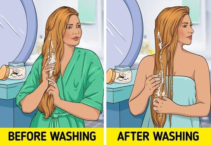 10 nguyên liệu tự nhiên hô biến tóc mỏng dính thành dày lại mềm mượt-4