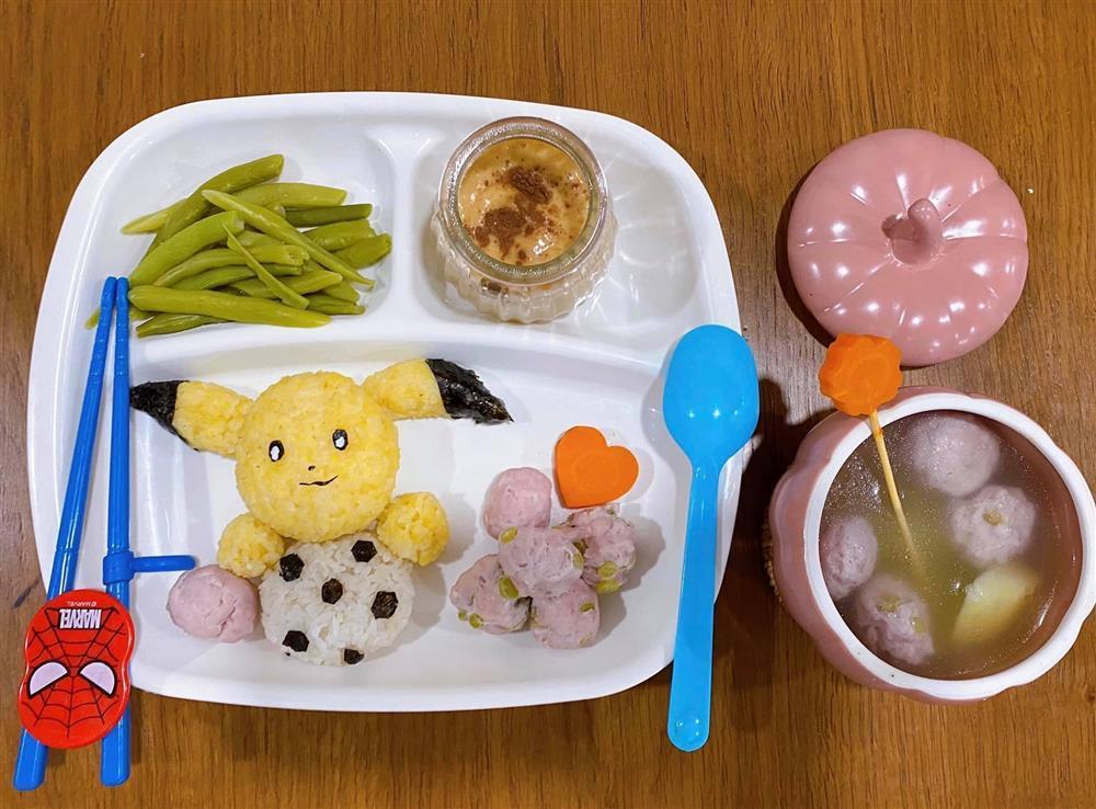 Mẹ 9x với những đĩa cơm đẹp mắt giúp con trai ăn thun thút-5
