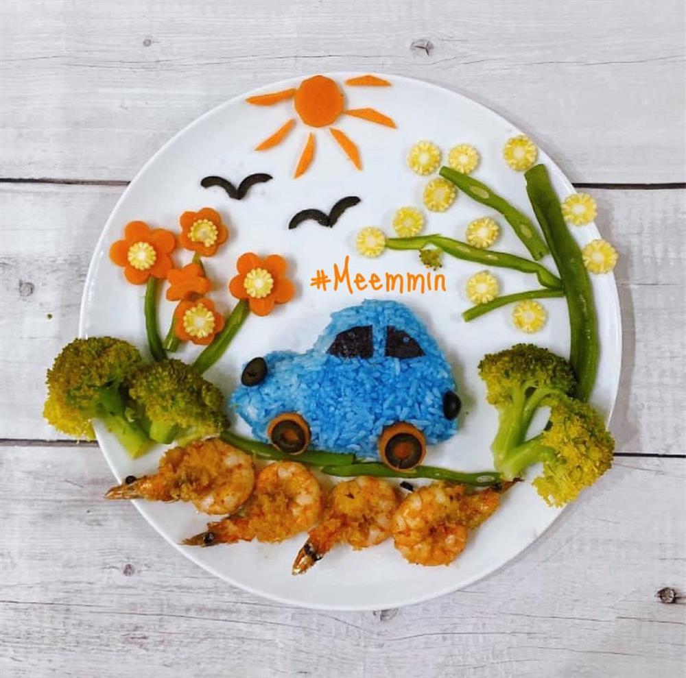 Mẹ 9x với những đĩa cơm đẹp mắt giúp con trai ăn thun thút-6
