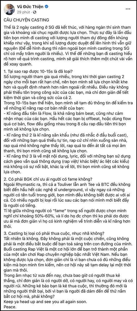 Rhymastic khẳng định không ưu ái chọn người có fame vào Rap Việt mùa 2-2