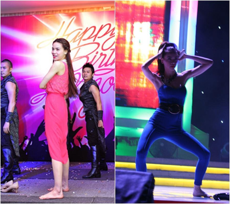 Hòa Minzy quờ quạng kém sang vì tuột giày trên sân khấu-2