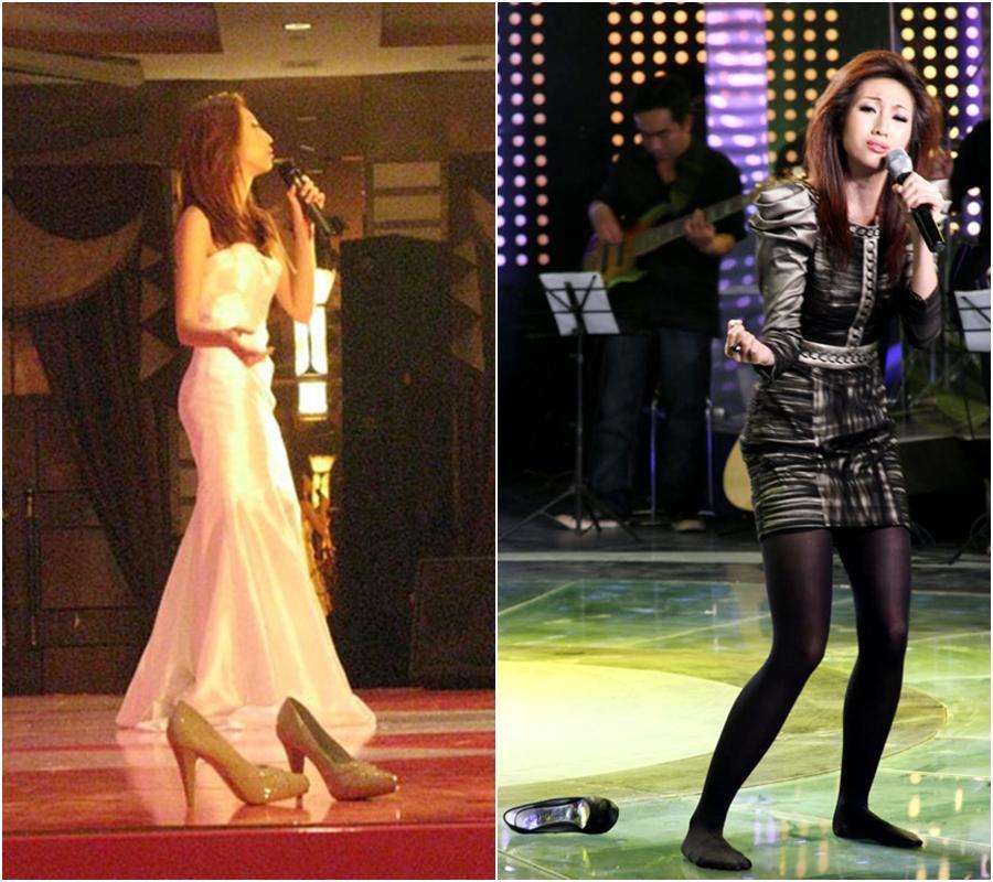 Hòa Minzy quờ quạng kém sang vì tuột giày trên sân khấu-3