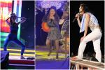 Hòa Minzy quờ quạng kém sang vì tuột giày trên sân khấu