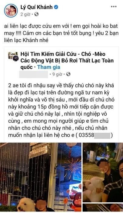 Mất con chó, Lý Quí Khánh đăng tin chỉ muốn chết-5