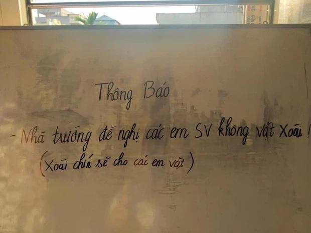 Trường ĐH ở Nam Định ra thông báo khẩn, dòng chú thích thọc lét-1