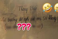 Trường ĐH ở Nam Định ra thông báo khẩn, dòng chú thích 'thọc lét'