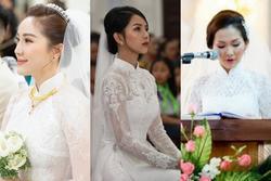 Vợ Phan Mạnh Quỳnh và các người đẹp mặc áo dài xuyên thấu trong đám cưới nhà thờ