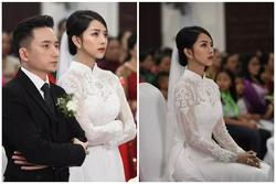 Cô dâu Phan Mạnh Quỳnh diện áo dài trắng, xinh đẹp không góc chết