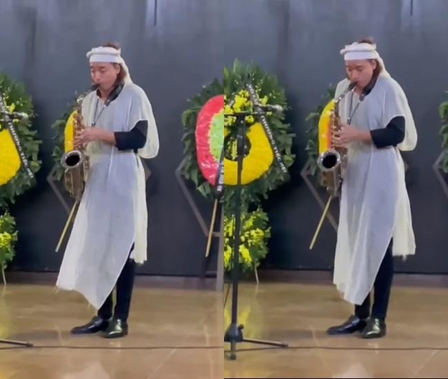 Chồng Việt Hương độc tấu saxophone tiễn biệt đấng sinh thành-2