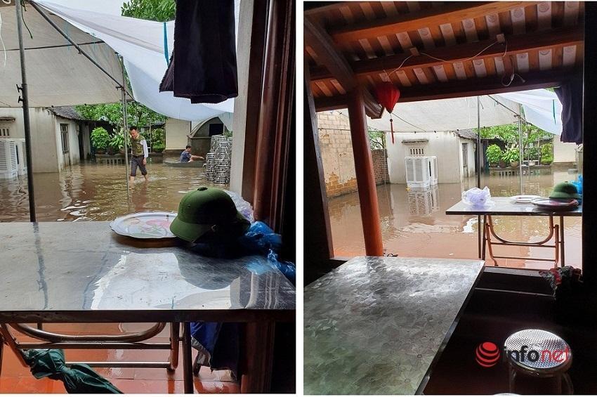 Mưa lớn, nước dâng ngập giường làng ven đô Hà Nội-7