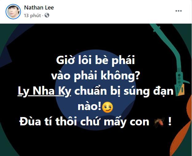 HOT: Nathan Lee rủ Lý Nhã Kỳ lập bè phái đấu lại Ngọc Trinh, Vbiz sắp bùng nổ?-1