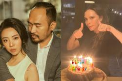 Thu Trang hoảng hồn khi phát hiện chồng mừng sinh nhật Victoria Beckham