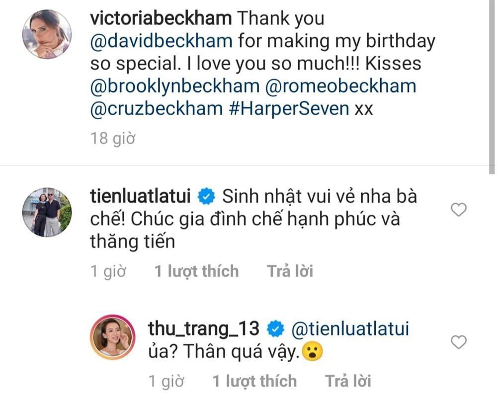 Thu Trang hoảng hồn khi phát hiện chồng mừng sinh nhật Victoria Beckham-1