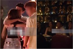 Quốc Trường và Minh Hằng hẹn hò trong tiệc sinh nhật, kéo nhau ra 1 góc ôm hôn