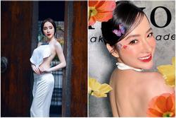 Angela Phương Trinh mặc áo yếm khoe lưng trần bán cơm chay