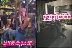 Tóc Tiên say rượu vắt cả người qua sofa, bò lên cầu thang mới chịu!