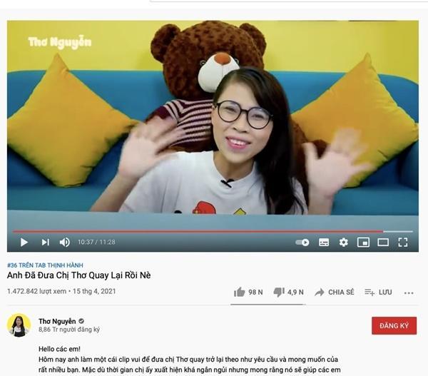 Clip mới của Thơ Nguyễn nhận hàng nghìn dislike-1