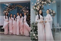 Gái 2 con Tăng Thanh Hà gây chú ý khi làm phù dâu