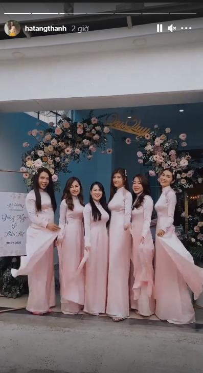 Gái 2 con Tăng Thanh Hà gây chú ý khi làm phù dâu-1