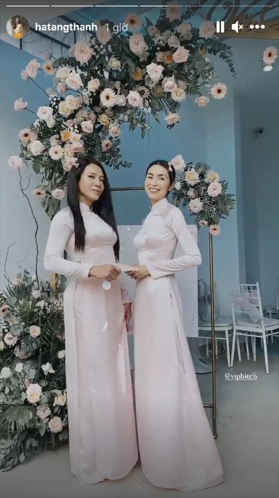 Gái 2 con Tăng Thanh Hà gây chú ý khi làm phù dâu-3