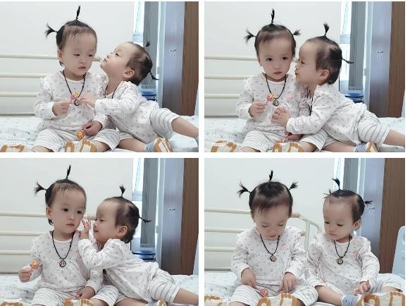 Khoảnh khắc 2 chị em ríu rít sau khi bé Diệu Nhi được phẫu thuật hoàn chỉnh đường tiêu hóa-2